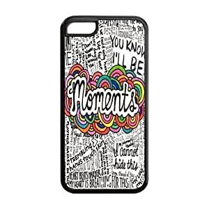 6 plus Phone Cases, Moments Lyrics Quote Hard pc hard Rubber Cover Case for iphone 6 plus