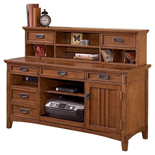 Ashley Furniture Signature Design   Cross Island Home Office Large Credenza  With Low Hutch   Medium