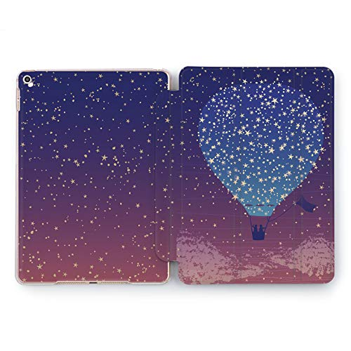 Wonder Wild Dreaming Balloon Apple iPad Pro Case 9.7 11 inch Mini 1 2 3 4 Air 2 10.5 12.9 2018 2017 Design 5th 6th Gen Clear Smart Hard Cover Love Couple Romantic Night Sky Flying Stars Sunset Cute ()