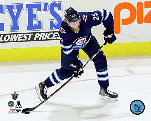 Jet 8x10 Photo - Patrik Laine 2017-18 Winnipeg Jets NHL Playoff Action Photo (Size: 8