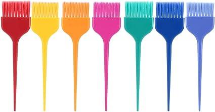 Sistema de cepillo del tinte de pelo, aplicador del color del cepillo del teñido de la peluquería profesional del tamaño XL de 7Pcs para el colorante ...