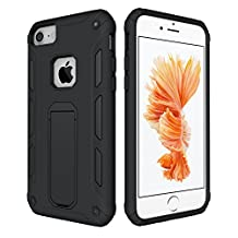 iPhone 8 Case,iPhone 7 case,Tough Armor iPhone 7 6S 6 Case Kickstand Heavy Duty Dual Layer Shockproof Air Cushion Bumper Protective Case Apple iPhone 7 /iPhone 6S / iPhone 6 - Black