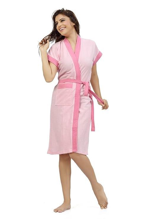 c93165cade Buy Sweetnight Terry Cotton Women S Bathrobe (Light Pink