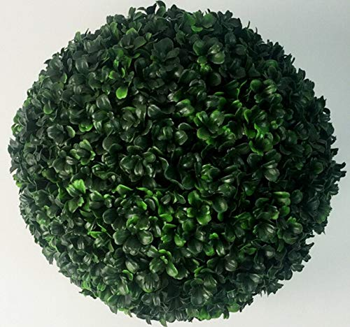 (Decorations Artificial 12cm Plants Boxwood Buxus Topiary Balls Grass Plant Chain Huckus Artificial Plants 20/25CM - (Size: 20CM, Color: Fluorescence Yellow))