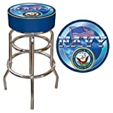United States Navy Padded Swivel Bar Stool For Sale