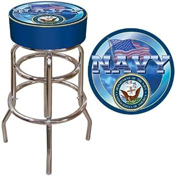 Amazon Com United States Navy Padded Swivel Bar Stool
