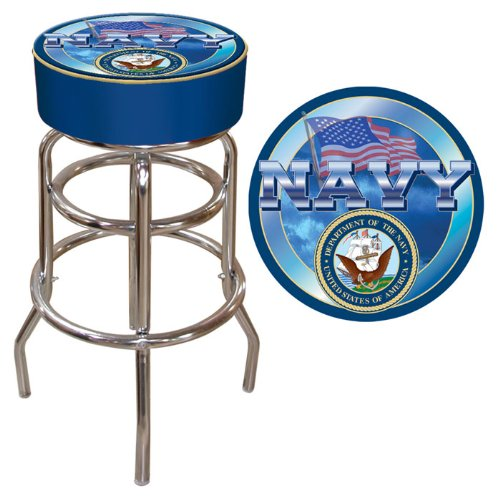 United States Navy Padded Swivel Bar Stool