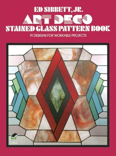Art Deco Stained Glass Pattern Book: 91 Designs for Workable Projects (Picture Archives) by Sibbett, Ed (2000) Paperback - Stained Glass Angel Pattern