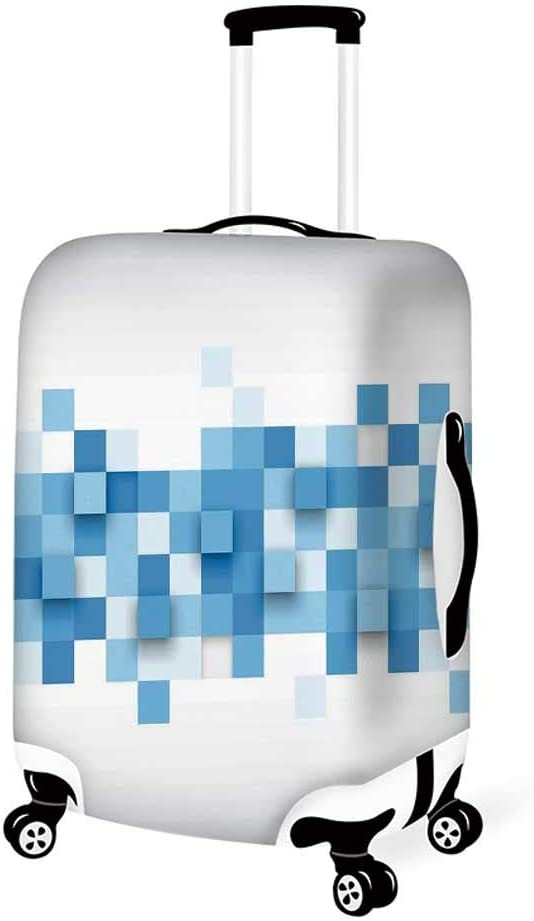 Abstract Stylish Luggage Cover,Arrows Pattern in Minimalist Symmetric Geometric Retro Artful Design for Luggage,M 19.6W x 28.9H