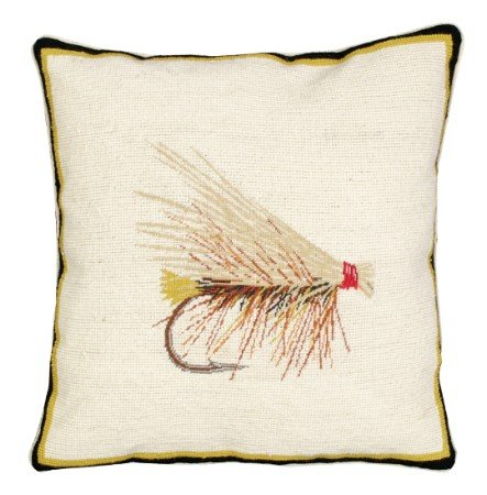Deluxe Pillows Caddis 16 x 16 inches needlepoint (Caddis Bed)