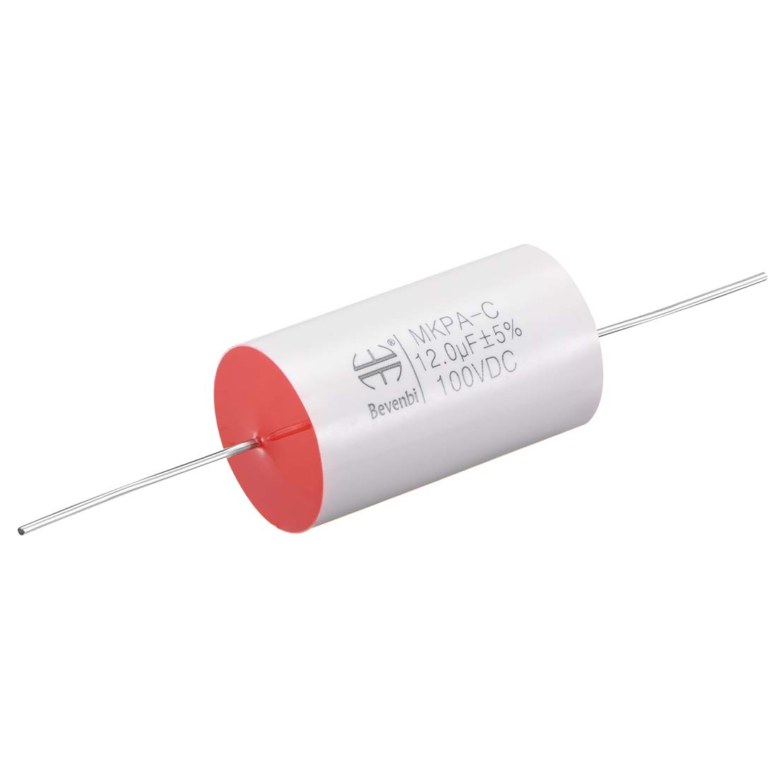 uxcell Film Capacitor 250V DC 20.0uF Round Axial Polypropylene Film Capacitor for Audio Divider