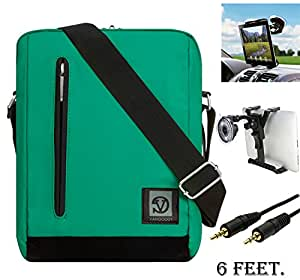 Adler 10.2 Premium Shoulder Bag Carrying Case For Asus Memo Pad Tablets (with 10.1-inch Display) + Auxiliary Cable + Windshield Car Mount
