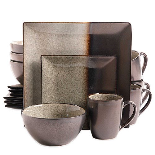 Gibson Kaidence 16-Piece Dinnerware Set in Brown