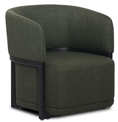 Casa-Padrino sillón Sala de Estar Verde Oscuro/Negro 66 x 65 ...