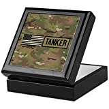 CafePress - U.S. Army: Tanker (Camo) - Keepsake Box, Finished Hardwood Jewelry Box, Velvet Lined Memento Box