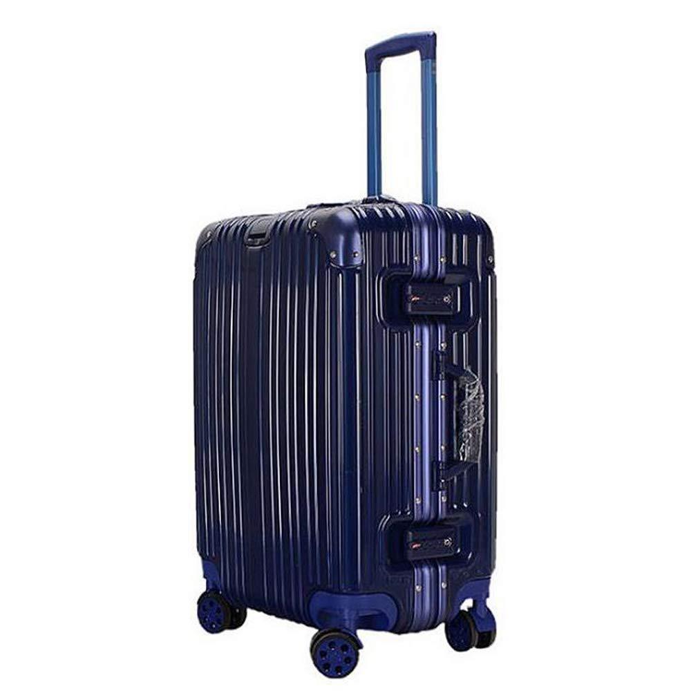 スーツケーストロリーケースユニバーサルホイールトラベルボックス学生スーツケース。 軽量Absスーツケース4スピナーホイール 41*24*64cm B07T2PZ461 Blue