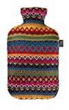 Fashy Hot Water Bottle with Cover Peru-Design Pink/ Brown 2 L
