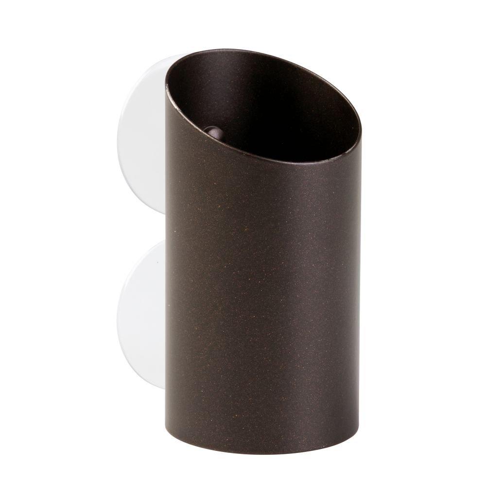 Interdesign 41971EU Forma Porte-Brosse /à Dents et Rasoir /à Ventouse pour Miroir de Salle de Bain Marron 5,72 x 0,254 x 11,43 cm