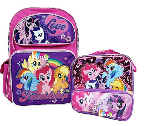 (My Little Pony Movie School Backpack Lunch Bag Set 16