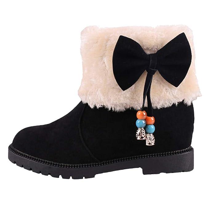 fac842057de7 DENER❤ Women Ladies Winter Snow Boots with Low Heels