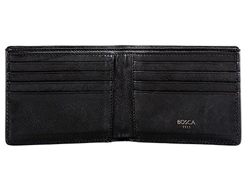 Bosca Men's Washed Collection 8 Pocket Deluxe Executive Wallet (Black, 8 D(M) US) by Bosca