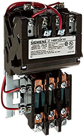 Siemens 14bp32aj81 heavy duty motor starter ambient for Manual motor starter with overload protection