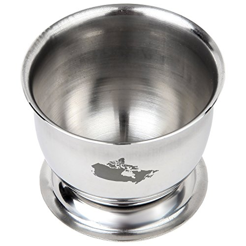 Canada Engraved Stainless Steel Egg Cup