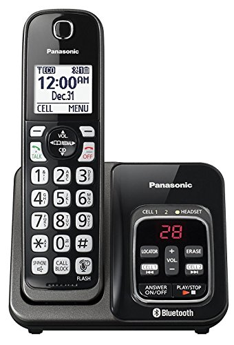 Panasonic KX-TGD560M / KX-TG3760M Link2Cell Cordless Telephone with Digital Answer Machine (Renewed) (KX-TGD562M -1 HANDSET)