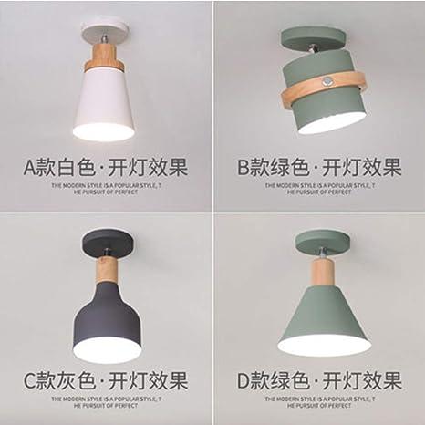 Hogar nórdico luces de pasillo macarons lámpara de techo ...