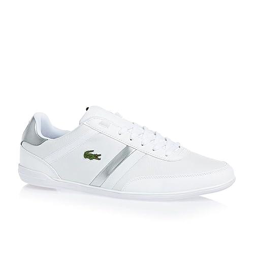 Lacoste - Zapatillas para hombre, color blanco, talla 43: Amazon.es: Zapatos y complementos