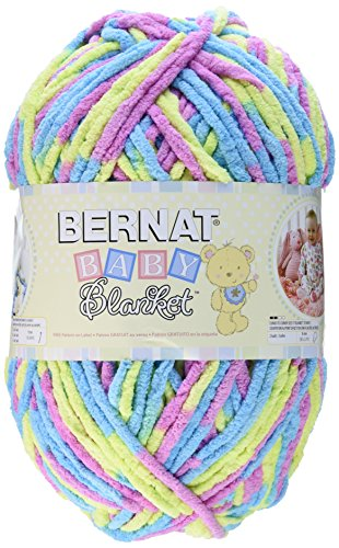 Bernat  Baby Blanket Yarn - (6) Super Bulky Gauge  - 10.5 oz -  Jelly Beans  - Single Ball  Machine Wash & Dry