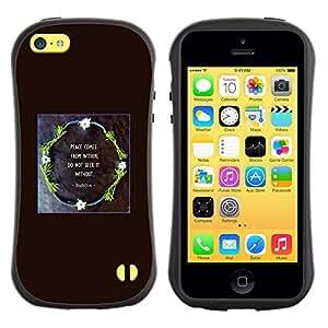 """Hypernova Slim Fit Dual Barniz Protector Caso Case Funda Para Apple iPhone 5C [Guirnalda del Negro dios impresiones Cita cristiana""""]"""