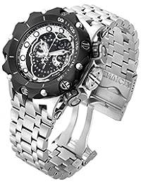 Invicta 16809 Men's Venom Reserve Black Dial Steel Bracelet Chronograph Dive Watch