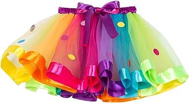 FENICAL Falda tutú de Arco Iris para niñas, Vestido de Baile con ...
