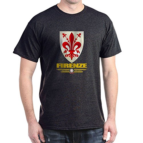 CafePress Firenze/Florence Dark T Shirt 100% Cotton T-Shirt Charcoal