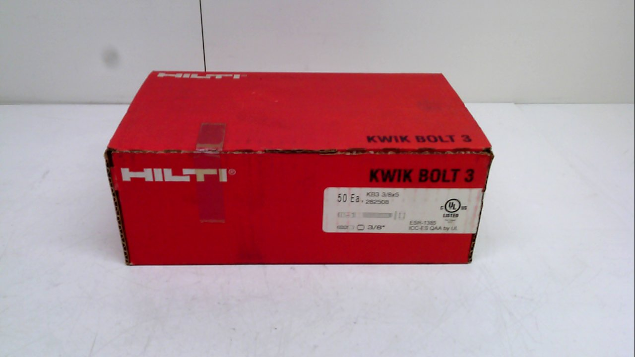 Pack of 50 Kwik Bolt Expansion Anchors 282508 Pack of 50 Hilti 282508
