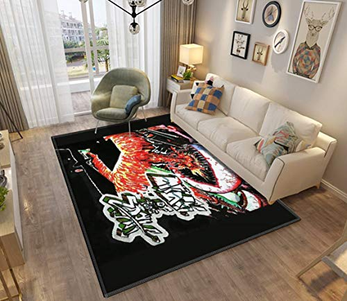 Attack Area Rugs Non-Slip Floor Mat Doormats Home Runner Rug Carpet for Bedroom Indoor Outdoor Kids Play Mat Nursery Throw Rugs Yoga Mat