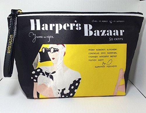 Estee Lauder Signature Cosmetic Bag Satin Harper's Bazaar New (Estee Lauder Makeup Travel Bag)