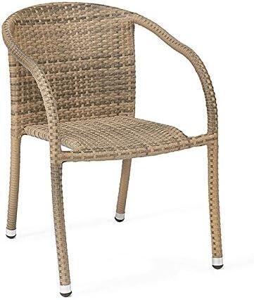 Centrosilla Set 2 sillones de ratán sintéctio Modelo Polo Estilo Mimbre Trenzado para jardín, terraza o Exterior … (Moka): Amazon.es: Hogar