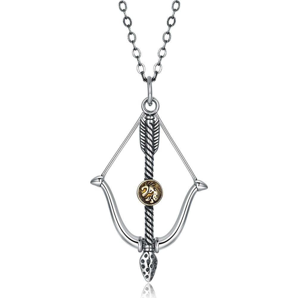 myazs8580 Vintage Style Cupid Bow and Arrow Necklace Collarbone Female Accessories.