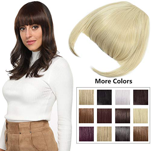 Clip in Bangs Fringe Hair Extensions with Temples Fashion Hair-pieces Bleach Blonde