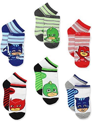 PJ Masks Boys Girls 6 pack Quarter Style Socks Set (4-6 Toddler (Shoe: 7-10), White/Multi Quarter)