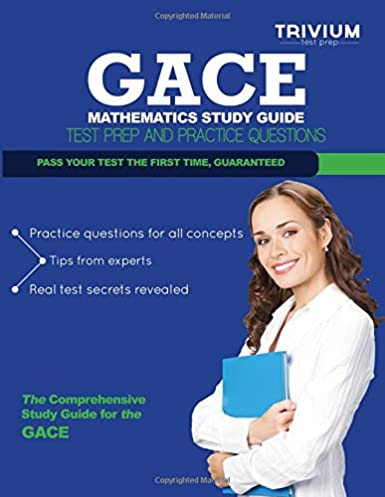 gace mathematics study guide test prep and practice questions rh amazon com Printable Math Study Guides For High School Geometry Worksheets