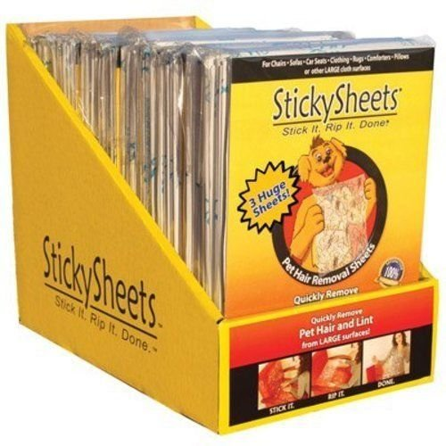 Sticky Sheets Pet Hair Removal - Sticky Sheets( Sticky Sheets 12 Pack )