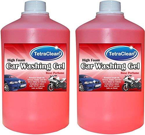 Tetraclean High Foam Car Shampoo Car Washing Liquid  Rose Scented  2 L
