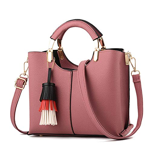 messenger 5 Miss in 10 mano nappa 19 unita bag 24 a pelle moda cm borsa rosa rosso Xmyl tinta RdnqZwvSS