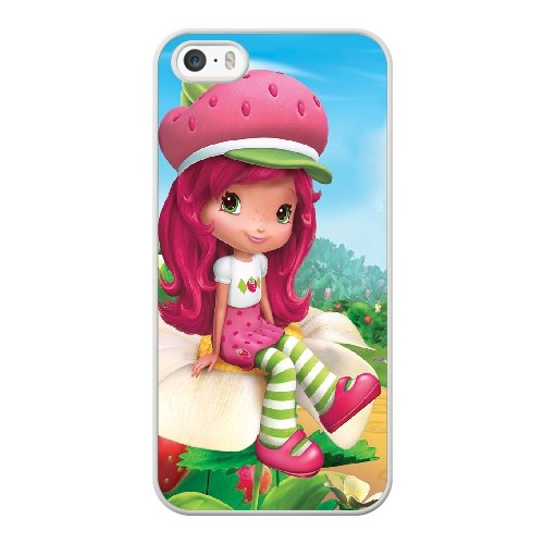 Coque,Coque iphone 5 5S SE Case Coque, Strawberry Shortcake Cast Cover For Coque iphone 5 5S SE Cell Phone Case Cover blanc