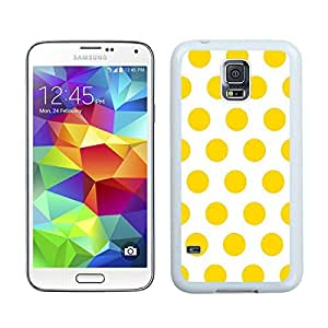Top Polka Dot White and Yellow S5 Case Best New Samsung Galaxy S5 Case White Cover by Maris's Diary