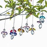 H&D Crystal Guardian Angel Suncatcher Hanging Rainbow Maker Ball Prisms for Window (Multi-8pcs)