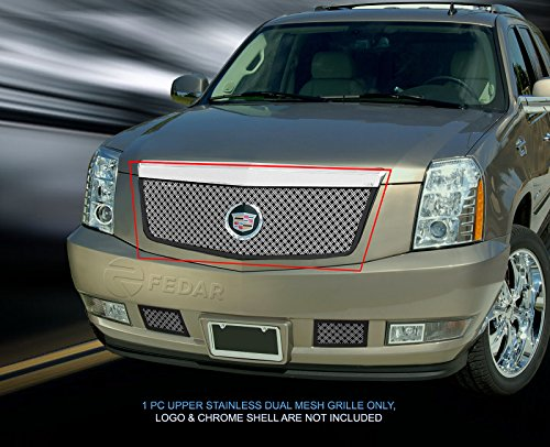 (Fedar Main Upper Dual Weave Mesh Grille for 2007-2014 Cadillac Escalade Selected Models)